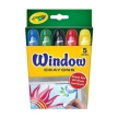Crayola 5 Washable Window Crayons