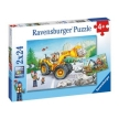 Ravensburger Diggers At Work Puzzle 2x24pc