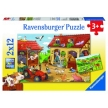 Ravensburger Working on the Farm Puzzle 2x12pc