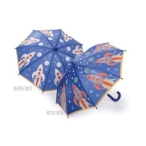 Floss & Rock Amazing Colour Changing Umbrella - Rocket
