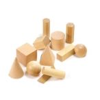 Learning Can Be Fun Wooden Geometric Solids Jar of 12