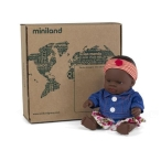 Miniland_Baby_Doll_21cm_African_Girl_with_Spring_Flower_Set