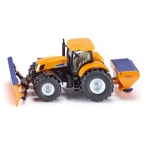 Siku_New_Holland_Tractor_with_Ploughing_Plate_1:50_Scale