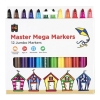 Educational Colours Master Mega Markers Packet of 12