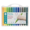 First Creations Easi-Grip Triangular Markers Packet of 24