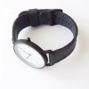 Hammered Leather Wrist Watch Classic 36 - Black