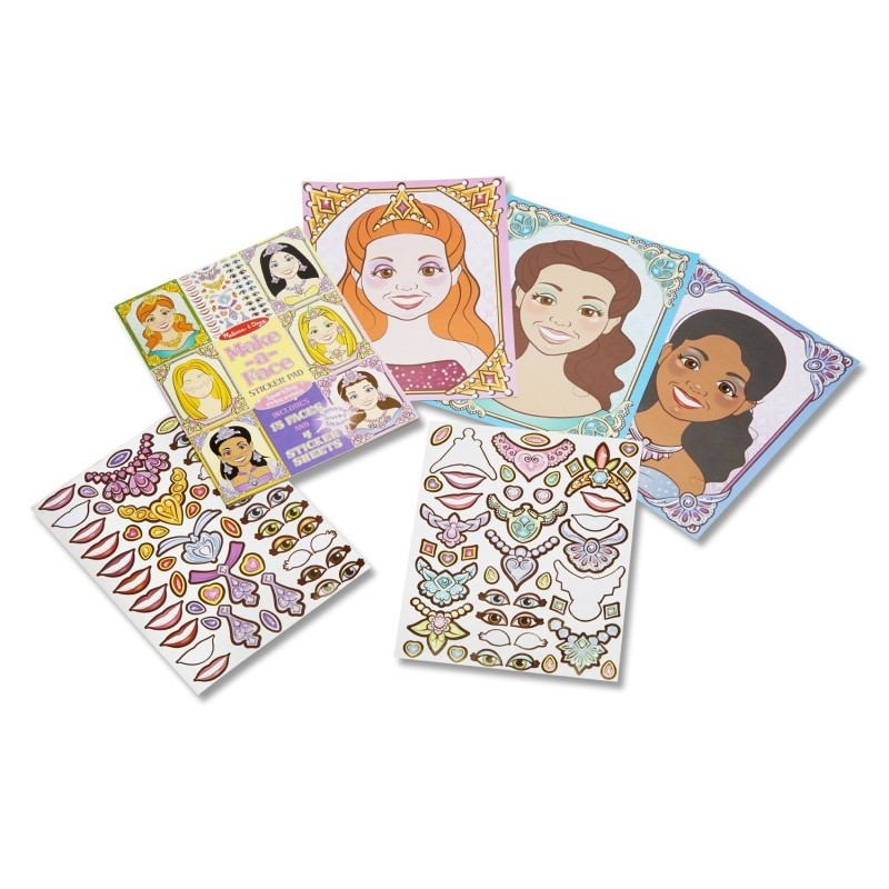 Melissa and Doug Make-a-Face - Sparkling Princesses
