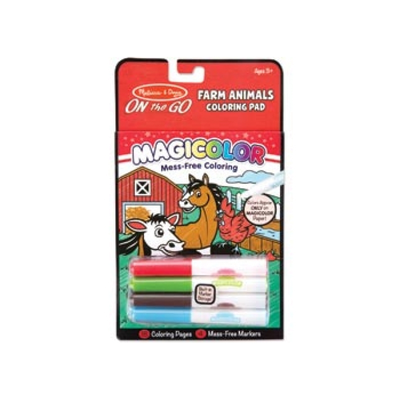 Melissa and Doug On The Go - Magicolor - Colouring Pad - Farm Animals