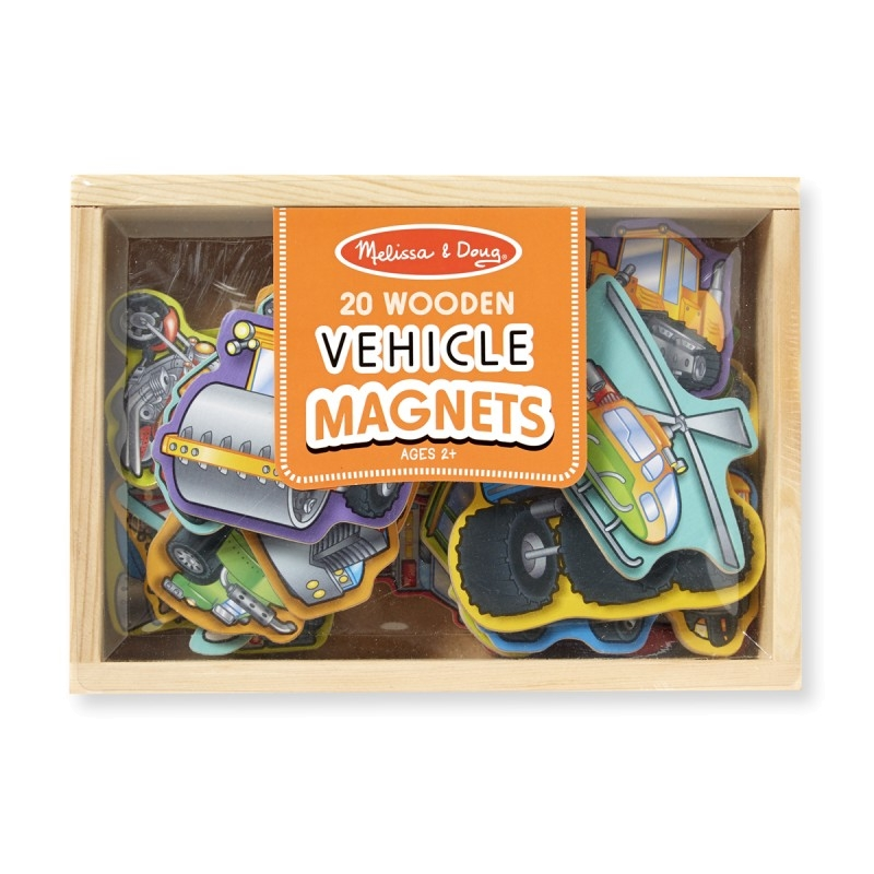 Melissa and Doug Vehicle Magnets 20 in a box