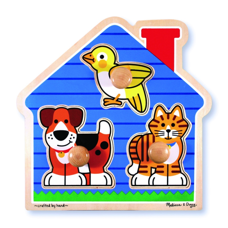 Melissa and Doug House Pets Knob Puzzle 3 piece