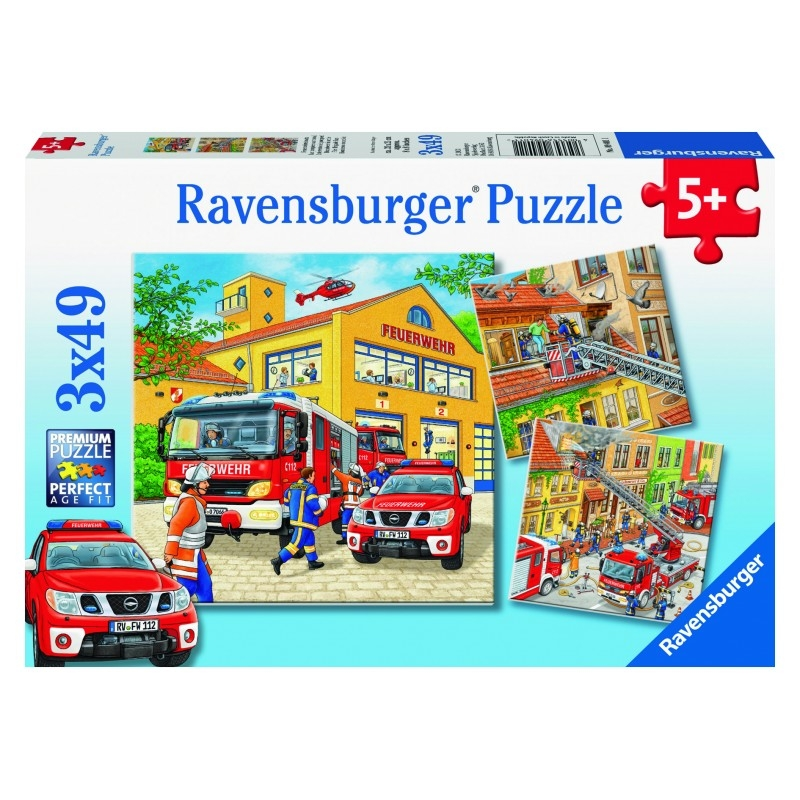 Ravensburger Fire Brigade Run Puzzle 3x49pc